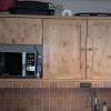 le banc fustier : Porte de cuisine en sapin huilée