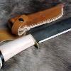 Le banc fustier : Camp knife manche bois de renne et ébène
