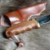 Le banc fustier : Couteau de chasse manche bois exotique