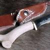 Le banc fustier : Couteau de chasse manche bois de renne