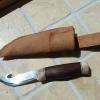 Le banc fustier : Couteau dépeceur manche bois de renne et palissandre
