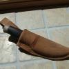 Le banc fustier : Couteau dépeceur manche bois de renne et palissandre dans son étui