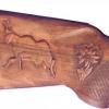 Le banc fustier : Crosse chamois et edelweiss détail