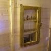 le banc fustier : Fenêtre décorative en vieux mélèze