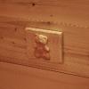le banc fustier : Cache boîte de dérivation sculptée