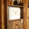 le banc fustier : Etagère en noyer huile pour box et tel