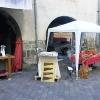 Le banc fustier : Stand de l atelier du banc fustier à la fête du terroir à saint bonnet le 8 aout 2010