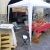 Le banc fustier : Stand de l'atelier du banc fustier a la fête du terroir à Saint Bonnet le 8 aout 2010