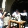 Le banc fustier : Andréas MARTIN interviewe à la fête du terroir à saint Bonnet le 8 aout 2010