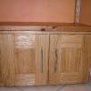 le banc fustier : Détail porte meuble de salon en châtaignier huile
