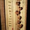 Le banc fustier : Thermomètre cœur évidés