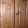 Le banc fustier : Panneaux portes de placards en arolle sculptes