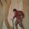 Sculpture sur bois bas relief
