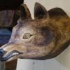 Le banc fustier : Tête de loup grand modèle