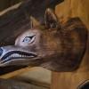 Le banc fustier : Tête de loup petit modèle