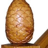 Sculpture sur bois ronde bosse