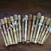 Le banc fustier : Cuillères a miel différentes essences de bois tournées par Andréas